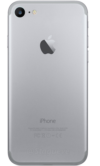 Apple lộ ảnh mặt sau của iphone 7 camera lớn