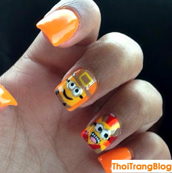 20 kiểu móng tay nail minion siêu dễ thương cho bạn gái