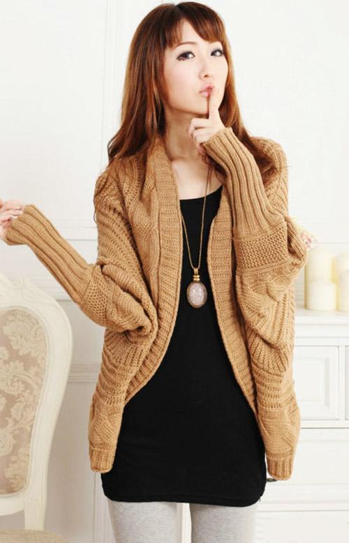 Áo khoác len hàn quốc nữ đẹp thu đông cho nàng nấm lùn gợi cảm
