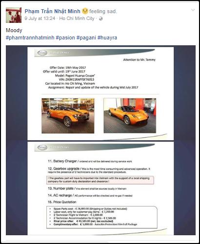 Minh nhựa tốn tiền tỷ sửa chữa siêu xe pagani huayra